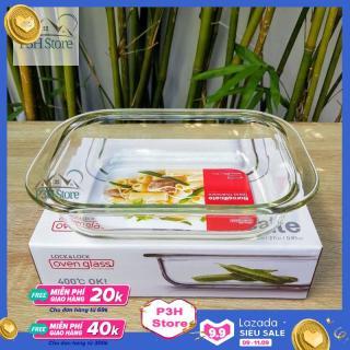 Khay nướng thủy tinh dĩa thủy tinh chịu nhiệt Lock&Lock dung tích 800ml LLG587 - dĩa trôn salad đĩa nướng chịu nhiệt độ cao thumbnail