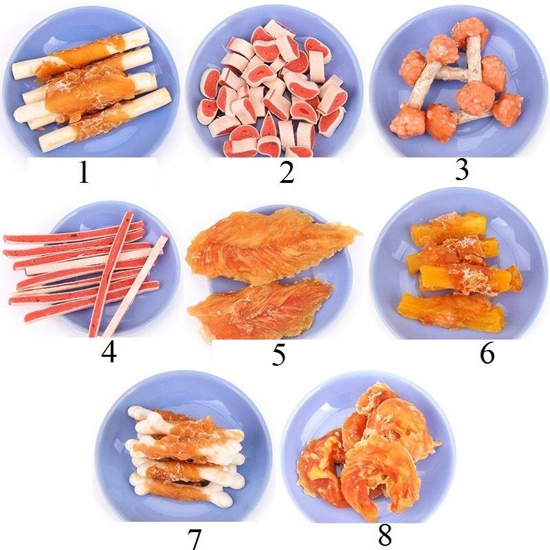 Bánh thưởng/Snack/Đồ ăn vặt Hàn Quốc nhiều loại cho chó mèo (100gr/túi)
