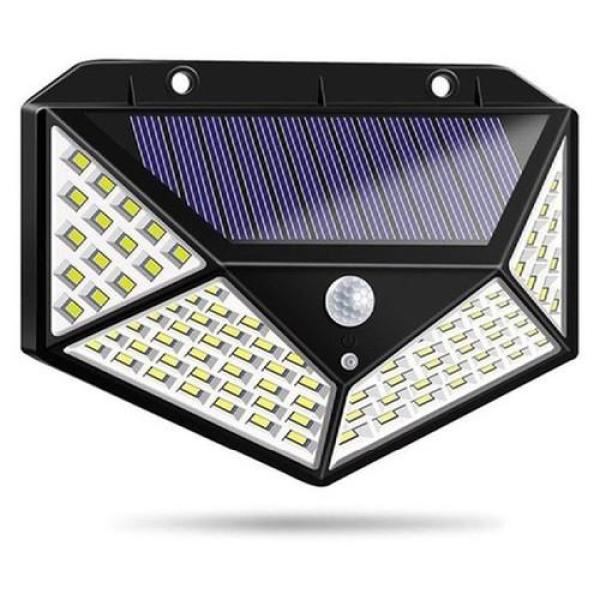 Bảng giá Đèn cảm biến hồng ngoại năng lượng mặt trời 100 bóng LED, đèn ngoài trời, đèn sân vườn chống nước, đèn treo tường