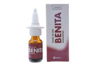Chai xịt mũi giảm viêm mũi dị ứng Benita chai 120 liều thumbnail