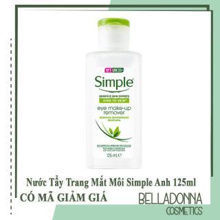 Nước Tẩy Trang Mắt Môi Simple Kind To Skin Eye Make-up Remover 125ml thumbnail