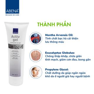 Gel xoa bóp lạnh Abena ActivGel 250ml - xoa bóp giảm đau cơ, cải thiện lưu thông máu với thành phần tinh dầu tự nhiên, có thể dùng trên diện rộng và lâu dài thumbnail