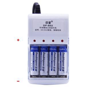 [HCM]Combo sạc DP-B02 và 4 pin sạc AA Doublepow 1200mAh Cam Kết Dung Lượng Thật thumbnail