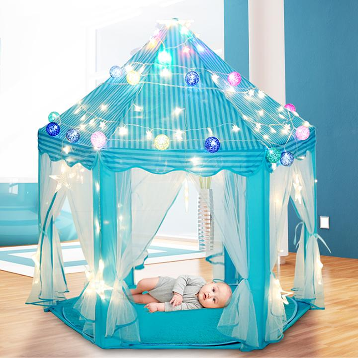 Lều Công Chúa [ KÈM ĐÈN LED] Lều Ngủ Công Chúa - Lều Bóng Công Chúa Bất Ngờ Giảm Giá