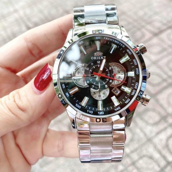 Đồng hồ nam dây kim loại 0RIENT 6 kim size 44mm màu White,đồng hồ nam chống nước ,đồng hồ nam cao cấp bán chạy