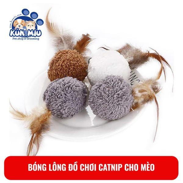 Bóng Lông Catnip Đồ Chơi Cho Mèo Kún Miu Giúp Mèo Thư Giãn