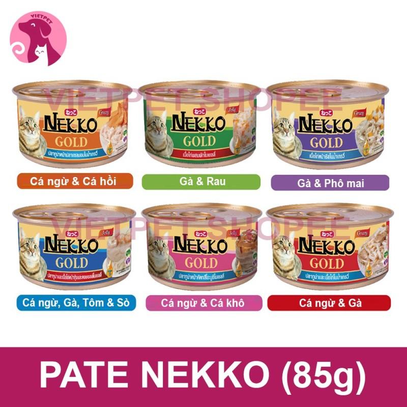 Pate cho mèo - Hộp/ lon Nekko Gold cho mèo (85g) (NK Thái Lan) (Thức ăn cho mèo, đồ ăn thưởng, đồ ăn ướt cho mèo,...)