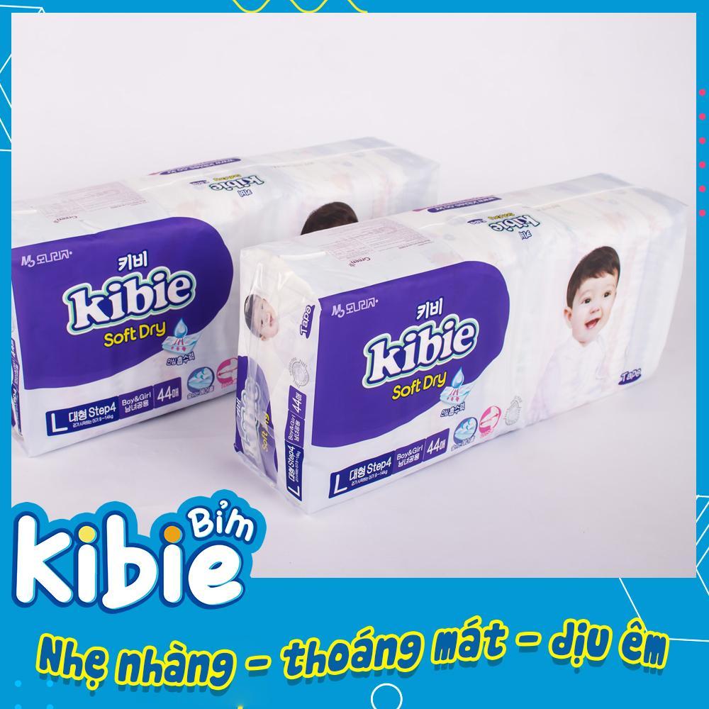 Tã/Bỉm Dán Kibie Cho Bé Hàn Quốc Size L-44 (9-14kg) Khác Biệt So Với Bobby, Huggies, Tã/Bỉm Quần Merries, Jo HABDL44