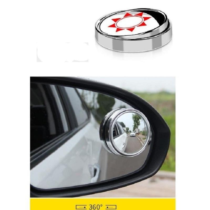 Gương cầu lồi chiếu hậu xóa điểm mù xe hơi- Gương có viền Bộ 2 Chiếc