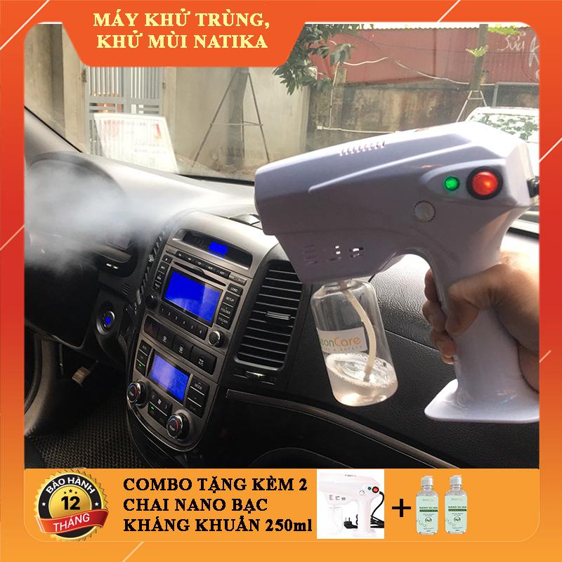 [VIDEO] MÁY PHUN KHỬ TRÙNG CẦM TAY :Ô TÔ, NHÀ CỬA - CHỐNG DỊCH- Tặng 2 chai nano bạc 250ml. May phun suong