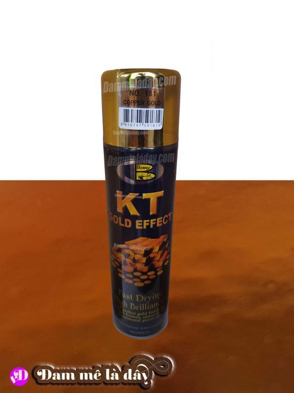 Sơn xịt mạ vàng KT gold effect Bosny