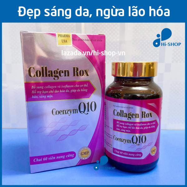 Viên uống đẹp da Collagen Rox bổ sung Vitamin E C chống lão hóa, giúp da hồng hào sáng mịn - Hộp 60 viên dùng 30 ngày