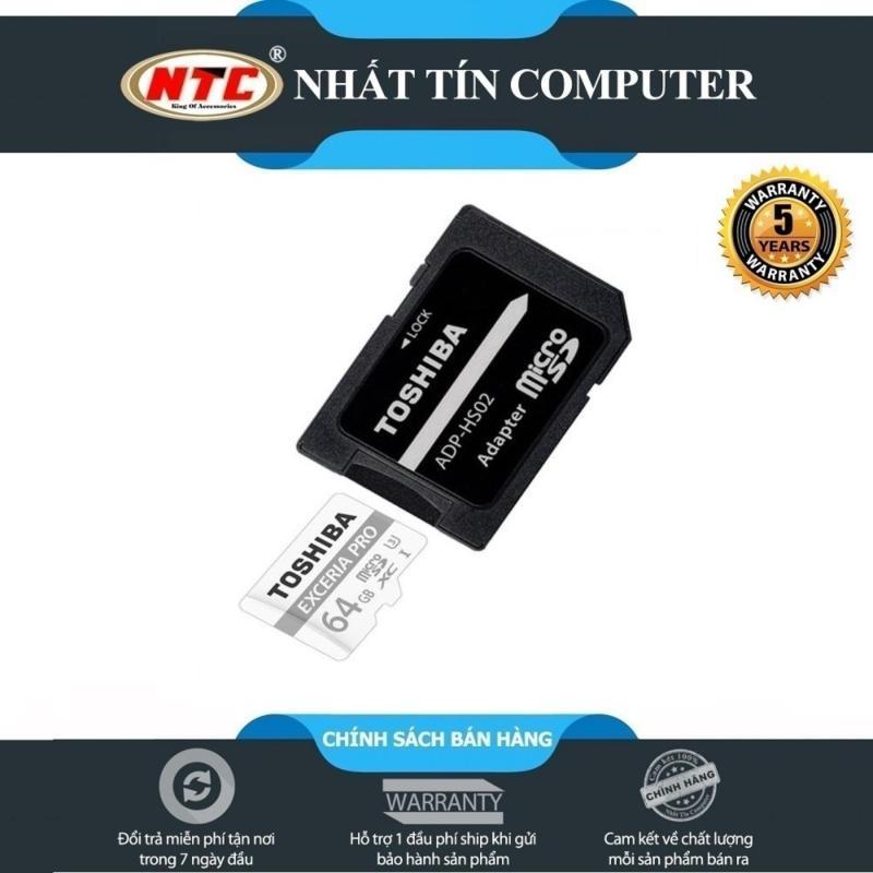 Thẻ nhớ MicroSDXC Toshiba Exceria Pro M401 64GB UHS-I U3 4K 95MB/s (Bạc)