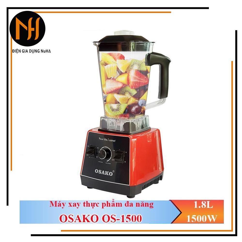 Giá Máy xay sinh tố công nghiệp đa năng OSAKO OS-1500 xay sinh tố, xay thịt, xay thực phẩm cứng, xay gia vị, xay đá, công suất 1500W