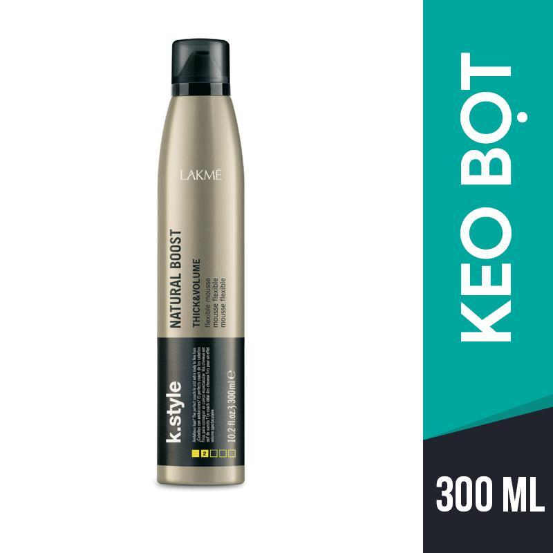 Keo bọt tạo kiểu tự nhiên tăng độ phồng Lakme K.Style Natural Boost 300ml