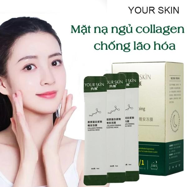 Hộp 20 gói nạ ngủ collagen trắng da ngăn lão hóa Yanjiayi