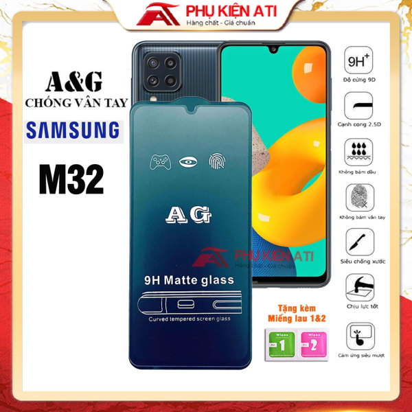 Kính cường lực Samsung M32 Chống vân tay - Full màn, cảm giác lướt mượt mà, bề mặt nhám chống lóa - Phụ kiện ATI