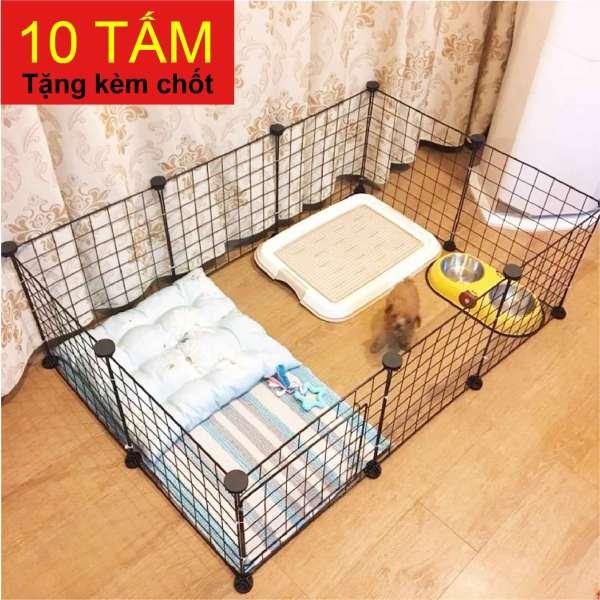 Combo Lưới Đa Năng Chuồng Chó Mèo 9 Tấm Lưới + 1 Cửa Chuồng - Tặng 20 Chốt Đen