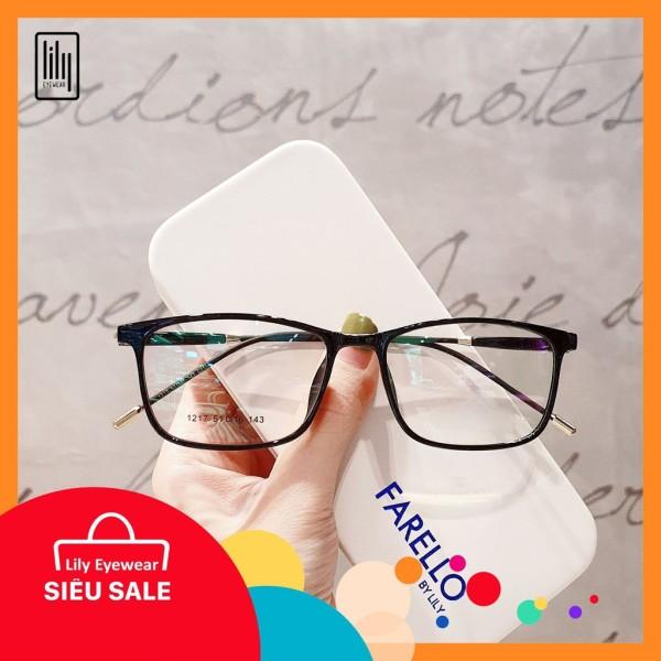 Giá bán [Lấy mã giảm thêm 30%]Gọng Kính Cận BBR1217-Gọng Kính Mắt Vuông- Gọng Kính Cận Đẹp-Gọng Kính Cận Unisex-Gọng Kính Thời Trang-Lily Eyewear