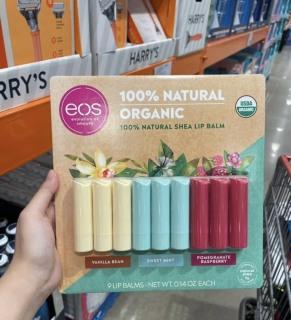 Son Dưỡng Môi EOS 100% tự nhiên hữu cơ (1 thỏi) USDA Organic Smooth Lip Balm Mỹ thumbnail