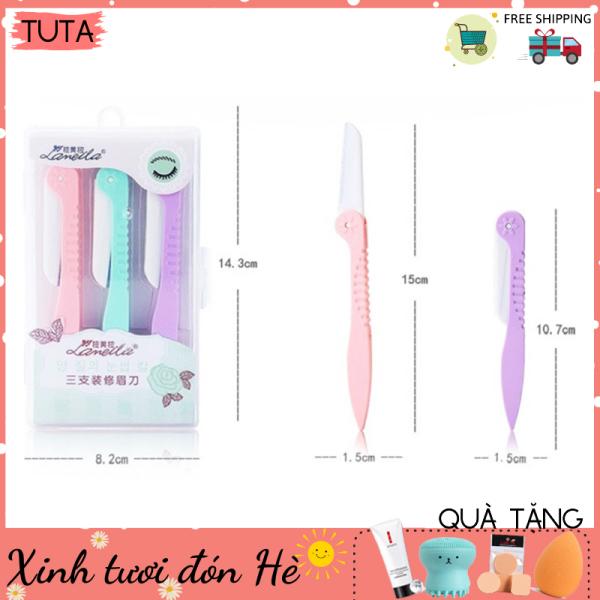 Dao cạo lông mày tiện lợi, Dao tỉa lông mày tóc mái mảnh sắc (Bộ gồm 1 dao và 1 lưỡi thay thế) TUTA-DC1dao