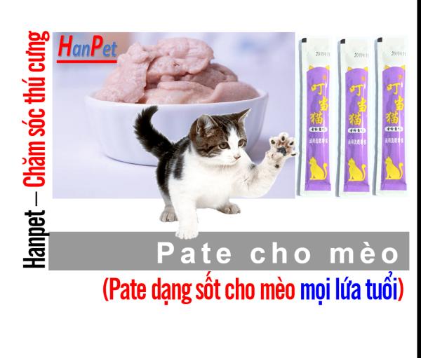 Hanpetgel 14gr- Pate dạng Gel dinh dưỡng cho mèo cưng thức ăn dạng ướt cho mèo pate thanh cho mèo mỗi thanh 14gr / thức ăn sốt cho mèo / soup cho mèo / thức ăn liếm cho mèo / snack súp thưởng mèo /  đồ ăn vặt mèo