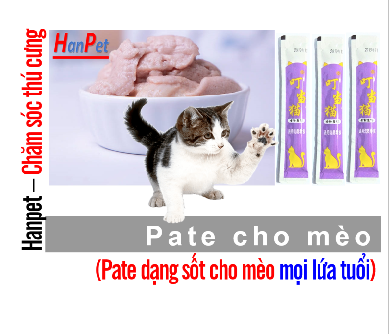 HCM- Hanpetgel 14gr- Pate dạng Gel dinh dưỡng cho mèo cưng thức ăn dạng ướt cho mèo pate thanh cho mèo mỗi thanh 14gr / thức ăn sốt cho mèo / soup cho mèo / thức ăn liếm cho mèo / snack súp thưởng mèo /  đồ ăn vặt mèo