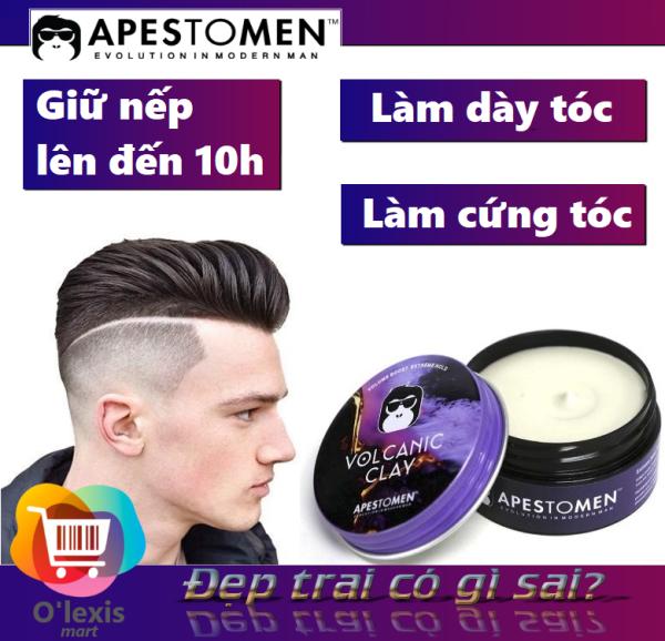 Sáp vuốt tóc nam Apestomen Volcanic Clay siêu giữ nếp hương thơm dễ chịu chuẩn salon giá rẻ