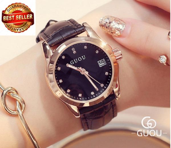 Nơi bán Đồng hồ nữ dây da tuyệt đẹp Guou 8076 (BH 12 tháng)