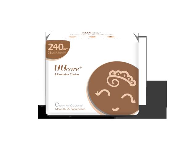 Băng vệ sinh ban ngày UUcare Crown Antibacterial 24cm giá rẻ