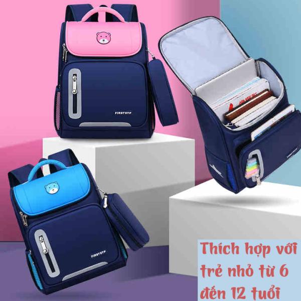 Giá bán Balo chống gù cho bé CHỐNG NƯỚC Balo đi học, nhỏ gọn, tiện lợi, nhiều ngăn, dây đai phân tán lực, siêu nhẹ.