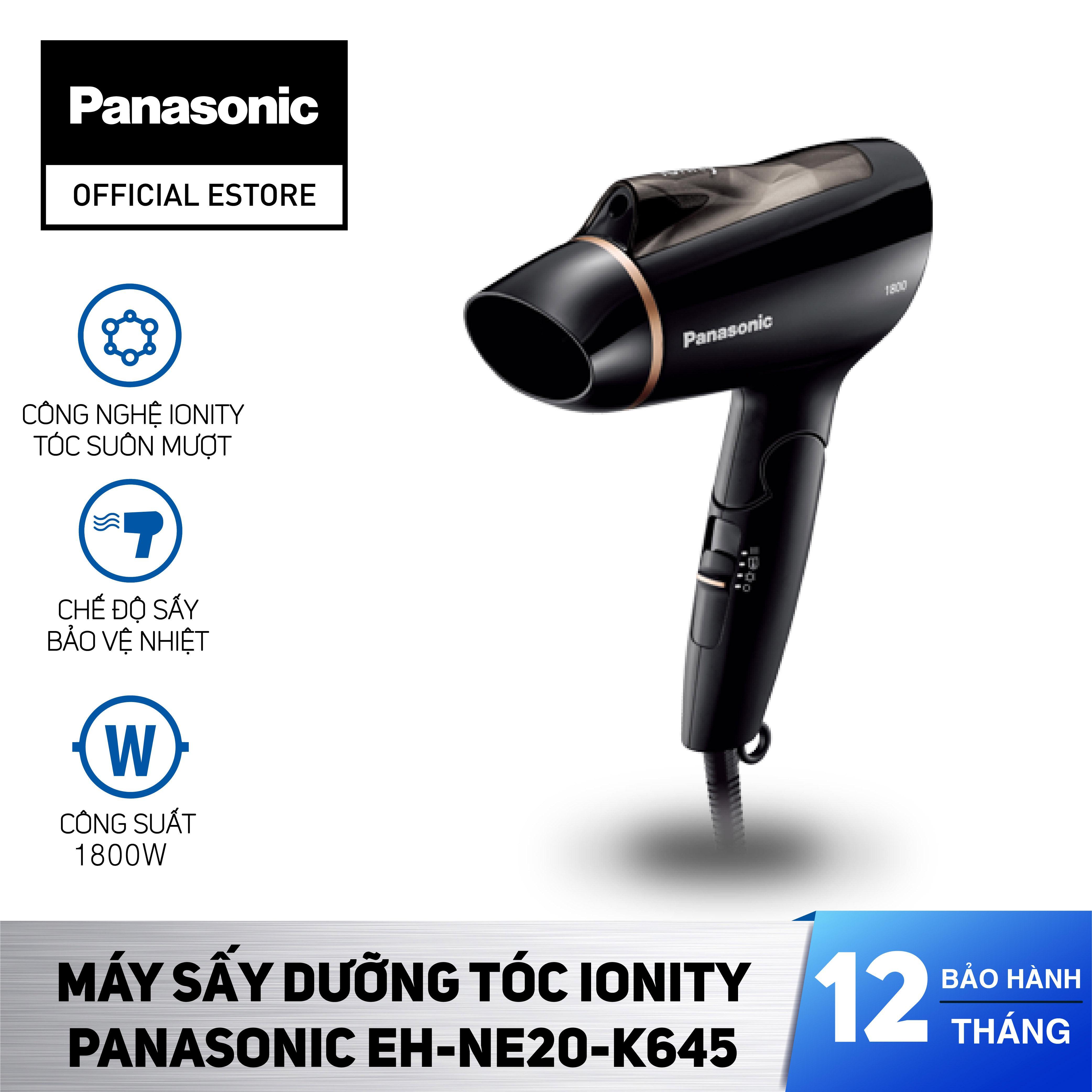 Máy Sấy Dưỡng Tóc Ionity Panasonic EH-NE20-K645 - Sấy Ion bảo vệ tóc - Tay cầm gập tiện lợi - Bảo Hành 12 Tháng - Hàng Chính Hãng nhập khẩu