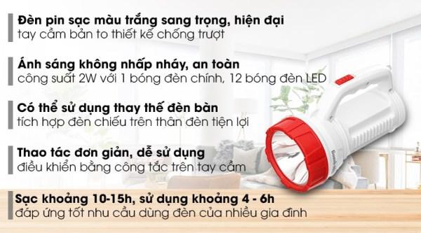 Đèn cầm tay điện quang hàng  điện quang thương hiệu quốc gia