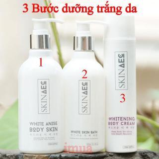 Combo 3 Bước Kích Trắng Body, Sữa Tắm Trắng Da và Kem Dưỡng Da Chuyên Sâu Skin AEC thumbnail