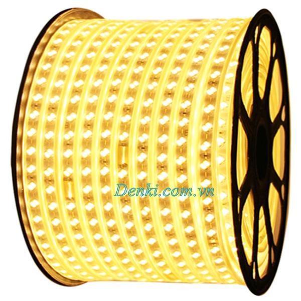 cuộn LED dây 5730 ống nhựa (vàng) 220v 2đầu nguồn
