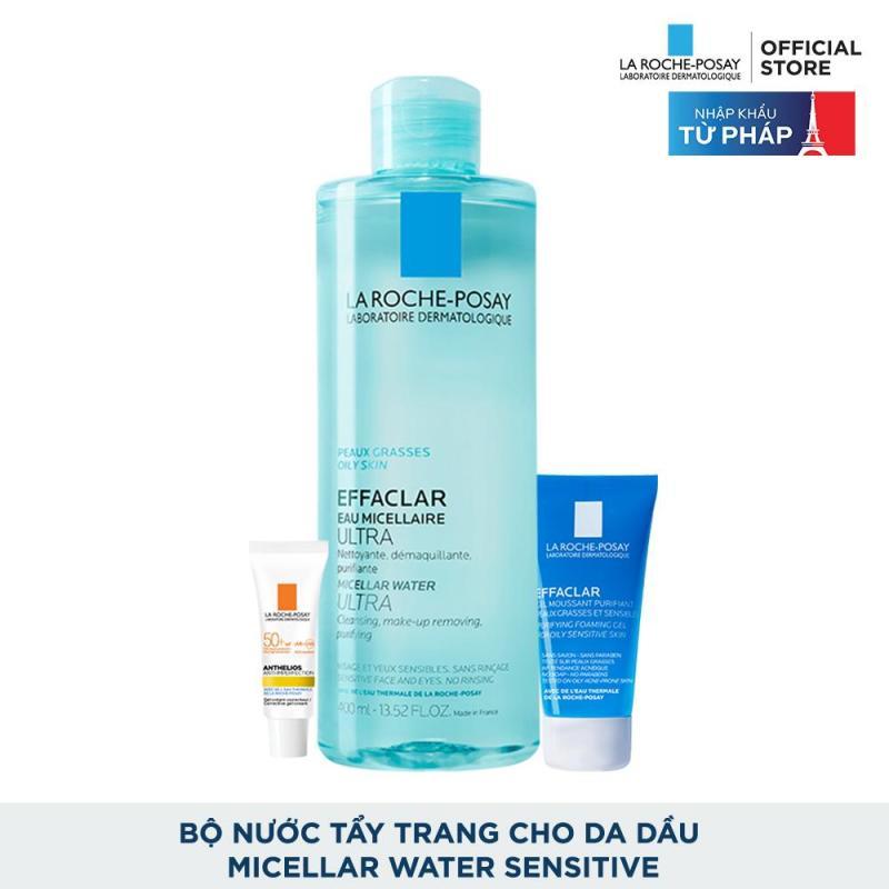 Bộ sản phẩm nước tẩy trang làm sạch sâu giàu khoáng dành cho da dầu mụn La Roche Posay Effaclar Micellar Water Oily Skin cao cấp