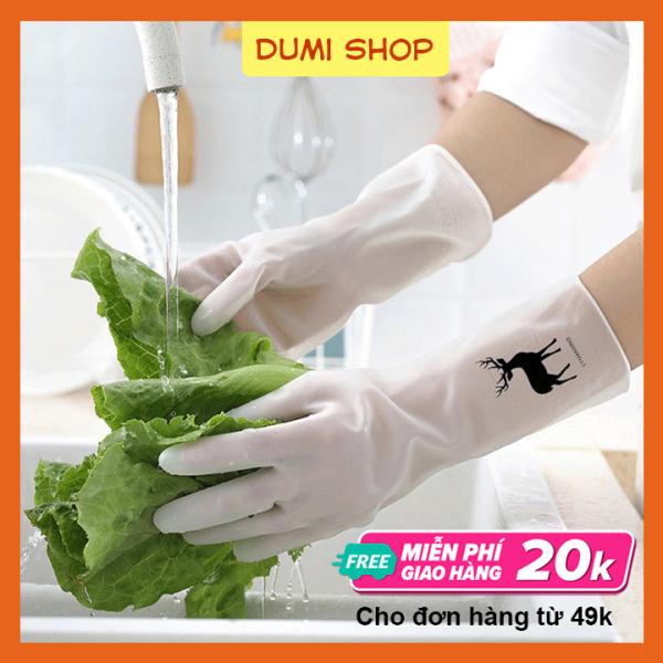 [HCM]Găng Tay Rửa Chén Cao Su Hình Hươu Siêu Dai – Dumi Shop