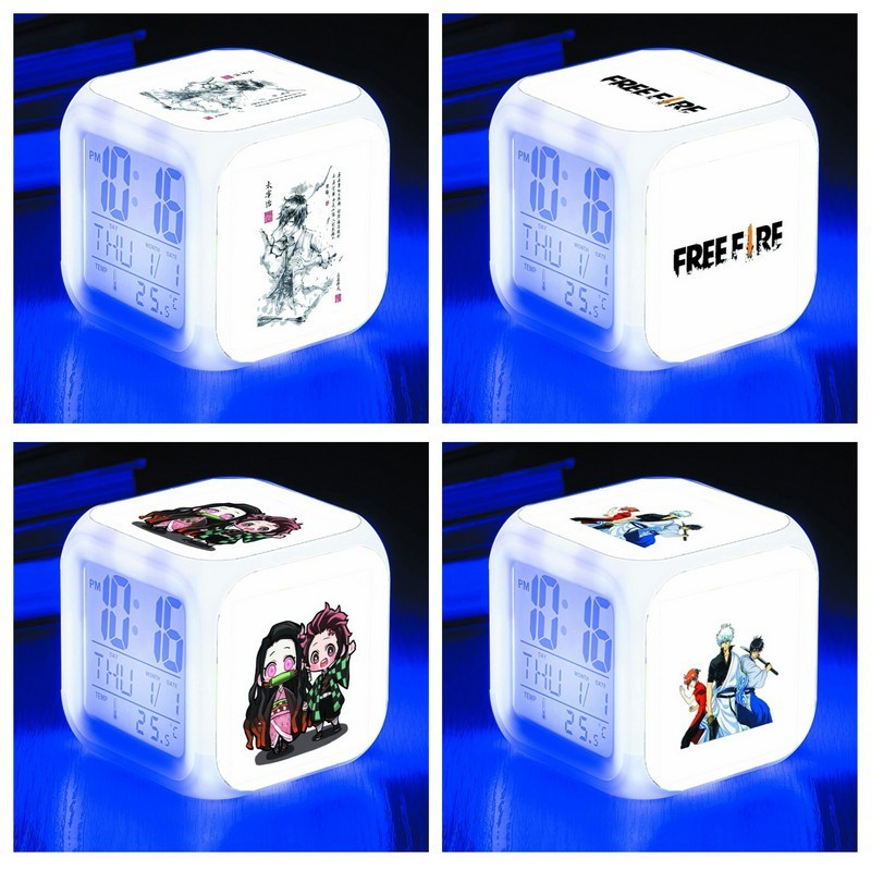 Đồng hồ báo thức để bàn in hình FAIRY TAIL HỌC VIỆN ANH HÙNG SAILOR MOON TOTORO anime chibi bán chạy