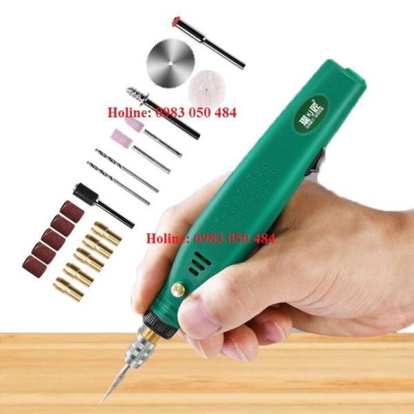 MÁY MÀI MINI CẦM TAY SIÊU MẠNH - máy khoan cắt cầm tay mini 12v Full phụ kiện có cả đĩa cắt gỗ k201