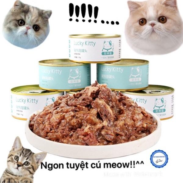 Pate Cho Mèo Lucky Kitty 170G -Món Quà Cho Các Bé!!! - Cá ngừ nhuyễn