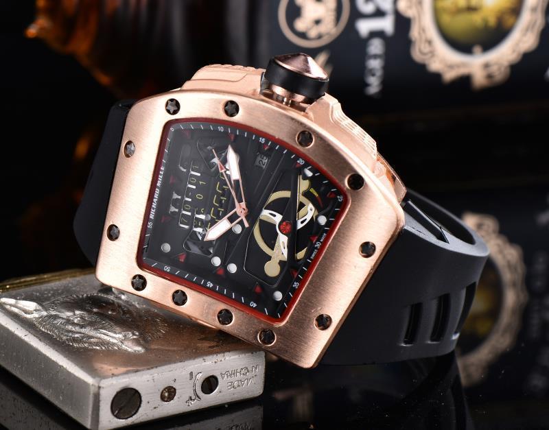RICHARD MILLE_Rolex  Luxury Brand Man quartz full stainless steel Watch Casual Military Sport Men Dress Wristwatch Gentleman bán chạy