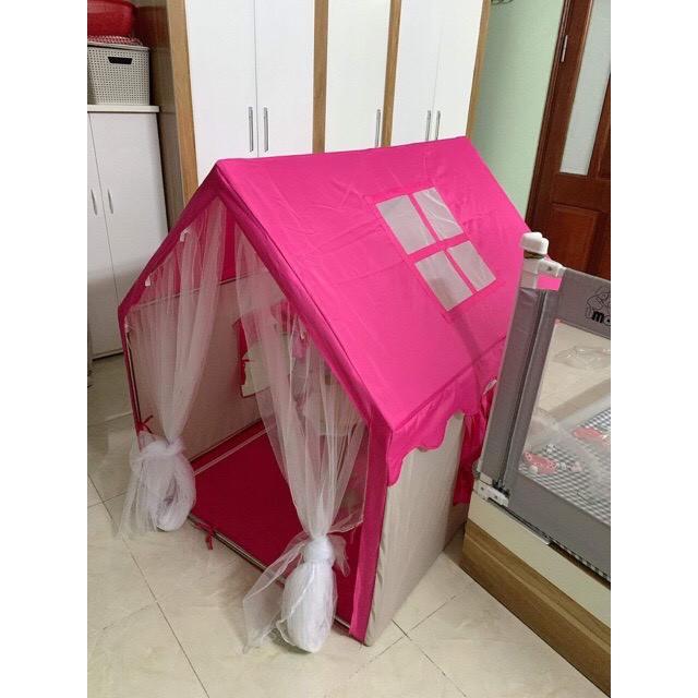 Lều vải cho bé, lều công chúa cho bé gái bé trai phong cách Hàn Quốc khung Inox siêu bền thumbnail