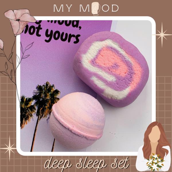 MY MOOD Deep sleep bath set | Set bom tắm và bánh tạo bọt Deep sleep giá rẻ