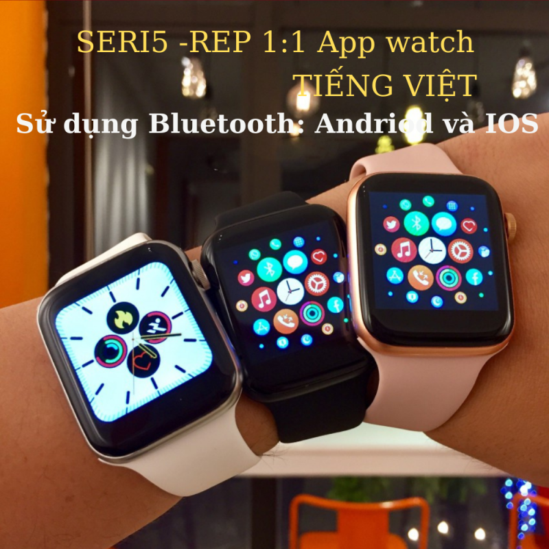 """Đồng Hồ Thông Minh Cao Cấp T500 1.75 """"HD – Đồng Hồ Apple Watch Seri 5 T500 Bluetooth Nghe Gọi Theo Dõi Sức Khỏe,Tùy Chỉnh Mặt Với 63 Hình Ảnh - Thay Được Dây,Nút Xoay Digital Crown,Chống Nước,Tiếng Việt 100%"""