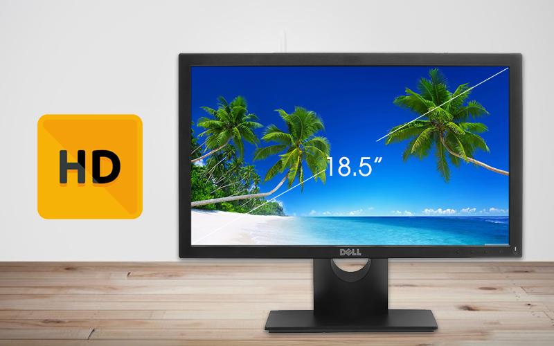 Màn Hình Dell 18.5  E1916HV (1366x768/TN/60Hz/5ms). Bảo hành 36 tháng