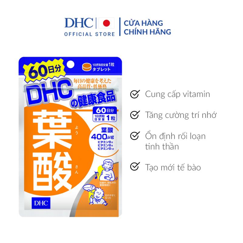 Viên uống cho Bà bầu DHC Folic Acid 60 Ngày
