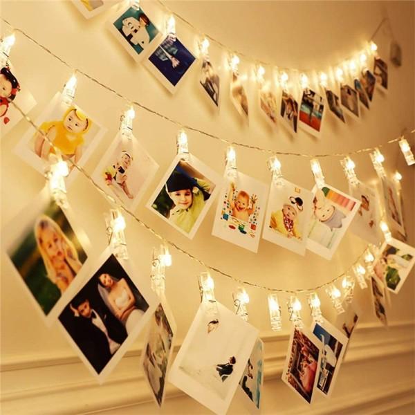 Bảng giá You need Mall Clip LED Đèn chuỗi ánh sáng Hình ảnh Clip Holder3m 20 Clip LED Đèn chuỗi Hình ảnh Clip Holder Trang trí cho Năm mới Giáng sinh Tiệc cưới sinh nhật