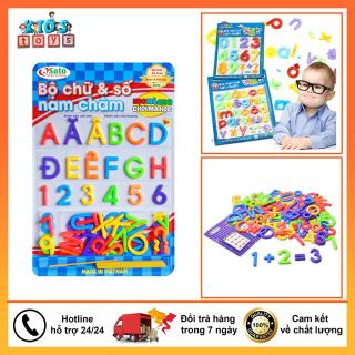 Bảng chữ cái nam châm, đầy đủ bộ chữ cái từ A - Z Kèm theo bộ 4 dấu câu, đồ chơi giáo dục thông minh dành cho bé thumbnail