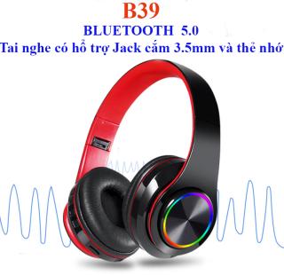 Shipped from Vietnam Tai nghe chụp tai Bluetooth 5.0 B39-Tai Nghe Thế Hệ Mới thumbnail