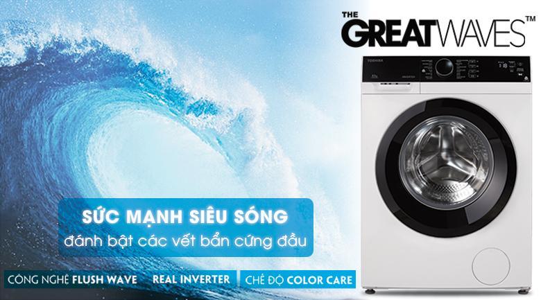 Máy giặt lồng ngang Toshiba Inverter 8.5 kg TW-BH95M4V